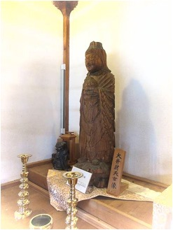 栃尾観音堂の円空仏(大弁財天女像)