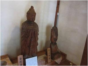 栃尾観音堂の円空仏(金剛童子像・護法童子像)