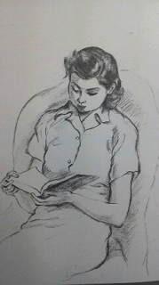 母が少女時代に描いた鉛筆画