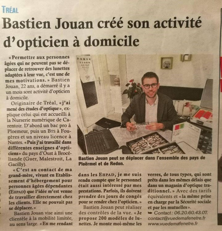 Article Ouest-France décembre 2017