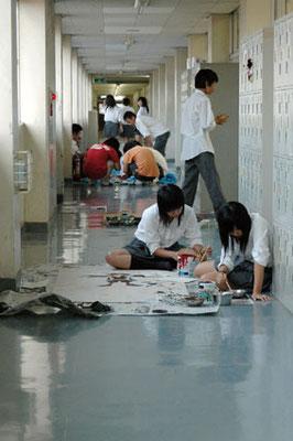 廊下・武蔵村山高校写真部撮影