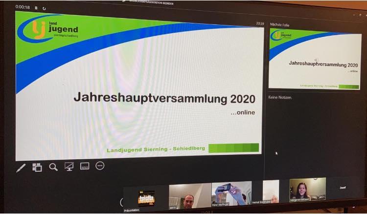 Online Jahreshauptversammlung 2020