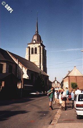 Pas de problème pour les départs de rando : le plus souvent c'est l'église du village
