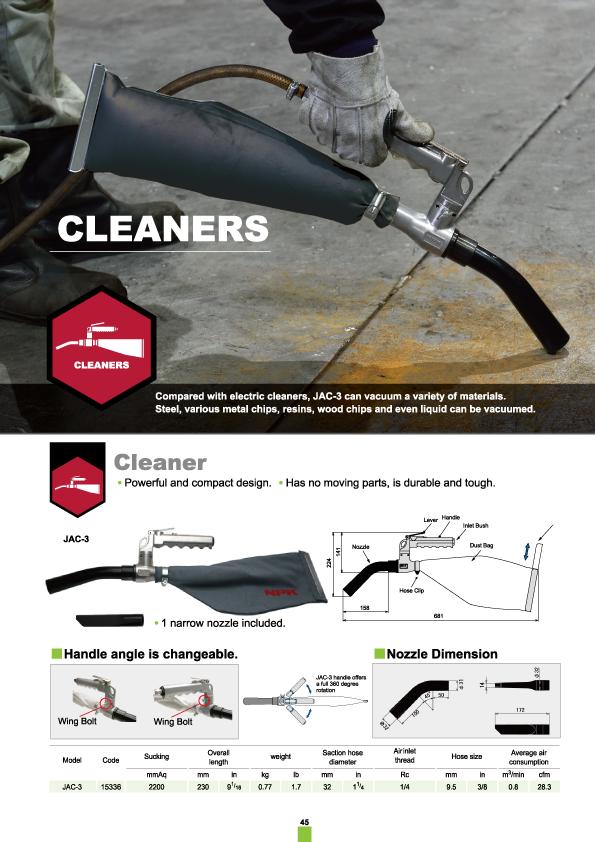 Cleaner, NPK, Nippon Pneumatic, Air Tools