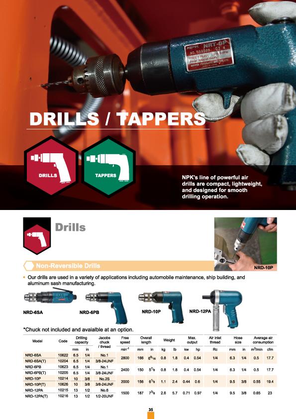 Drill, , NPK, Nippon Pneumatic, Air Tools