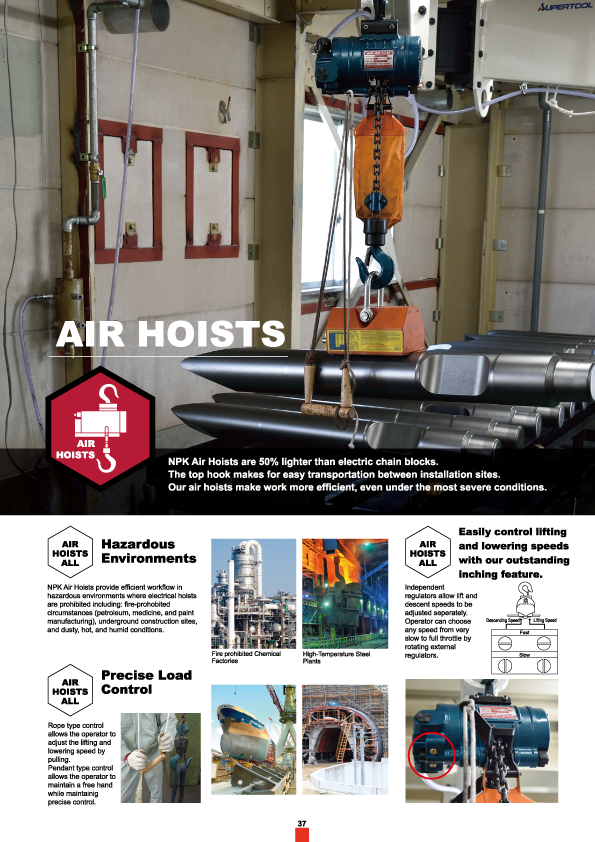 Air Hoist, NPK, Nippon Pneumatic, Air Tools