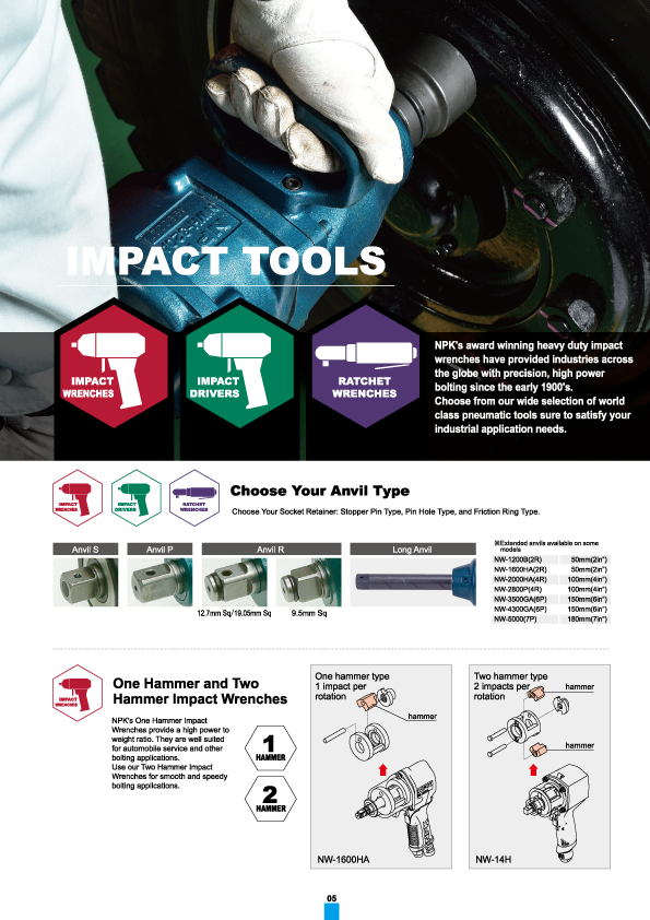 Impact Tool, NPK, Nippon Pneumatic