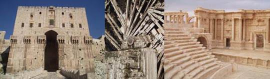 Aleppo, Hama, Palmyra