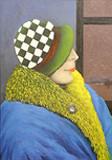 Im Zug - Frau mit Hut