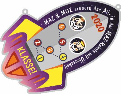 2020: MAZ & MOZ erobern das All, in der MAZ-Rakete mit Überschall