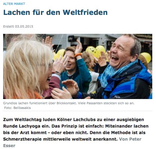 Video 1 - MIt Klick zum Weltlachtag 2015 auf den Alter Markt in Köln