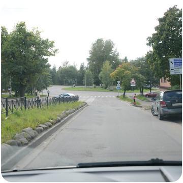 левый поворот на Приморск и Советский