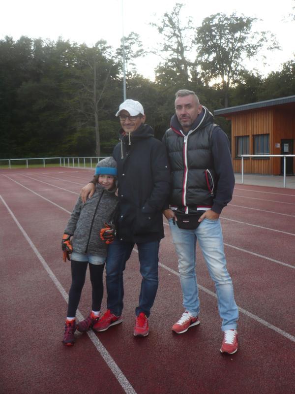 Beide leider verletzt:   Mauricio Vieira (mit Tochter), Miguel Ribeiro