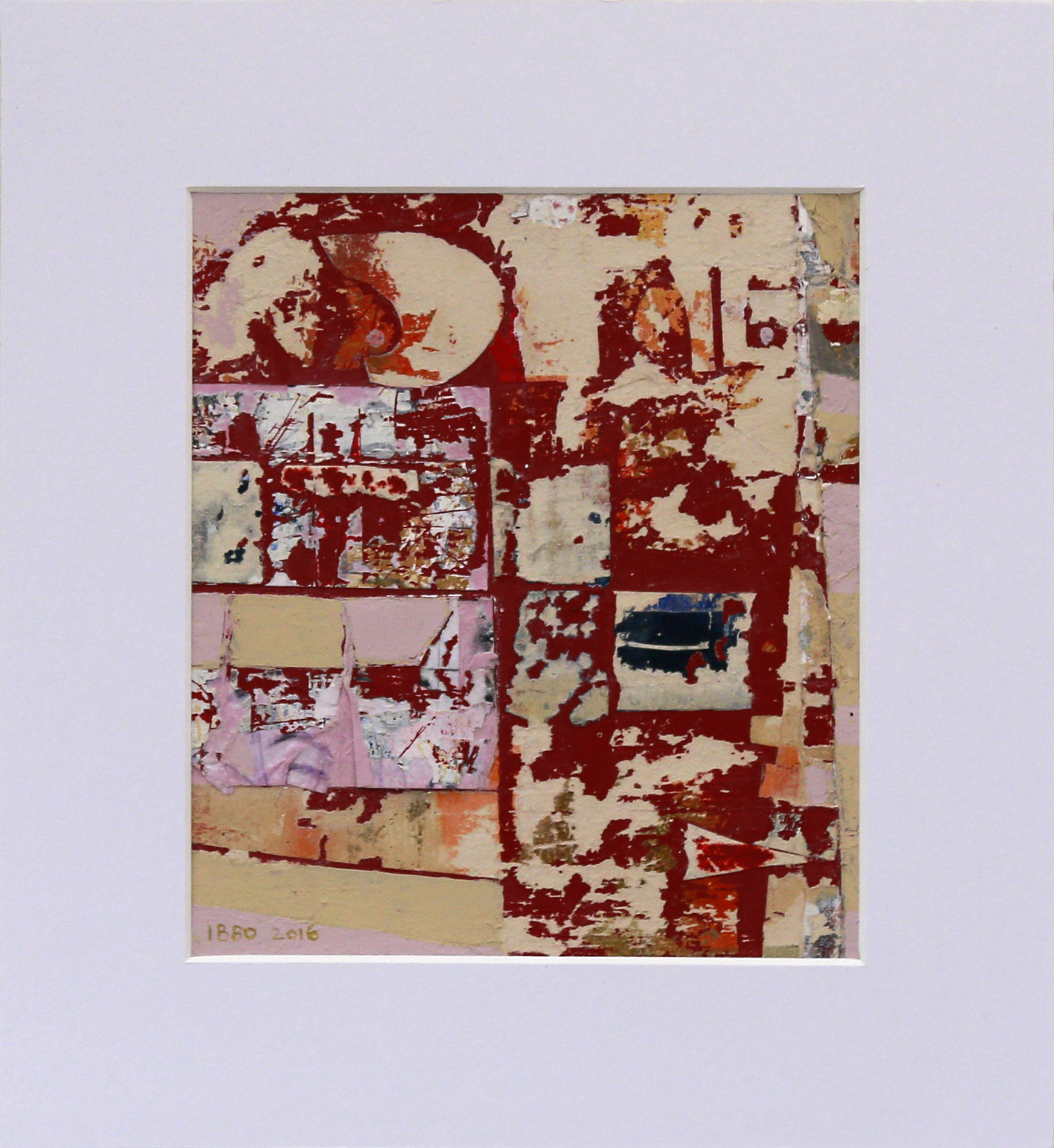 Music Pupils 17 x 20 cm Mixed media (28 x 30 cm mounted)