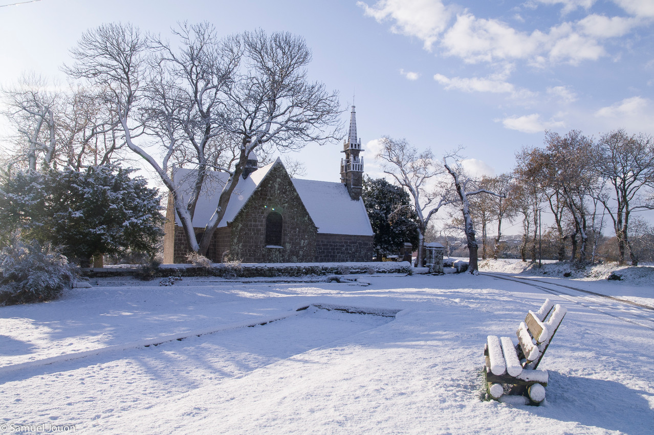 la chapelle des 7 saints en hiver