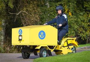 Die Postversion des Elektro-Cargo-Trikes kommt bereits in Schweden und Norwegen zum Einsatz