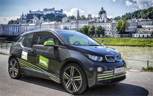 Elektroauto BMW i3 in Salzburg. Foto: SalzburgAG/Kolarik