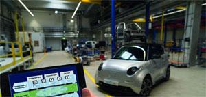 Für die Serienproduktion kostengünstiger und kundenorientierter Elektro-Fahrzeuge nimmt die e.GO Mobile AG derzeit ihr neues Werk in Aachen Rothe Erde in Betrieb.