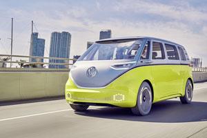 I.D. Buzz: Elektro-Van-Studie mit KI-Technologie für Cockpit und autonomes Fahren