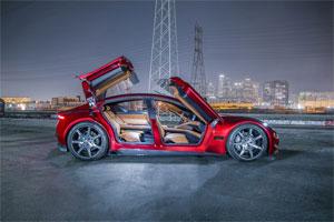 """Fiskers Elektro-Limousine """"Emotion"""" wird nach Herstellerangeben eine Reichweite von über 640 Kilometern haben"""