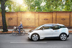An allen DriveNow Standorten stehen den Nutzern elektrische BMW i3 zur Verfügung