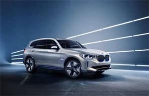 Das BMW Concept iX3 mit einer Hochvoltbatterie (Netto-Kapazität über 70 kWh) hat laut Hersteller eine Reichweite von über 400 Kilometern im WLTP-Zyklus