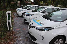 """Insgesamt wurden bisher von den Elektro-Dienstfahrzeugen der Stadt Dülmen rund 6.000 kWh Strom """"getankt""""."""
