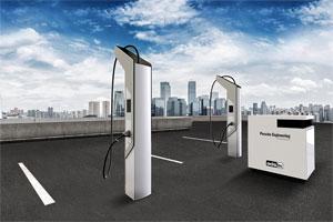 """Der """"High Power Charger"""" – Schnellladen von Elektro-Fahrzeugen am leistungsbegrenzten Verteilnetz. Foto: ADS-TEC"""