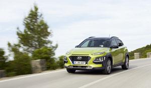 Die voraussichtliche Reichweite des Elektro-SUV Kona wird laut Hersteller bis zu 470 km betragen