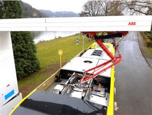 OppCharge-Ladestation Elektro-Busse ABB