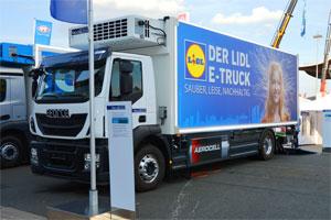 Ab dem 01.01.2019 sollen Elektro-Lkw komplett von der Maut befreit werden. Bild: Iveco E-truck. Bildquelle: Spielvogel/Wikipedia