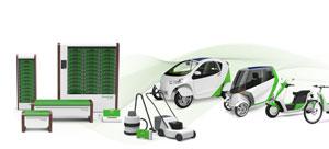 Die Akkumodule können vielseitig eingesetzt werden: als Hausstromspeicher, in Elektrofahrzeugen und E-Bikes sowie in Geräten für mobile Anwendungen
