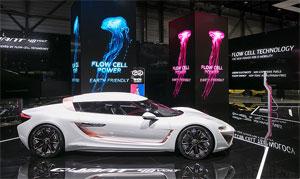 Der Elektro-Sportwagen QUANTiNO 48VOLT nutz die Flusszellen-Technologie