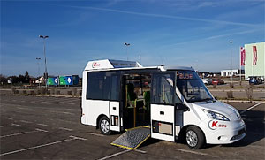 Elektro-Niederflur-Elektrobus mit bis zu elf Sitzplätzen zzgl. 3 Klappsitze