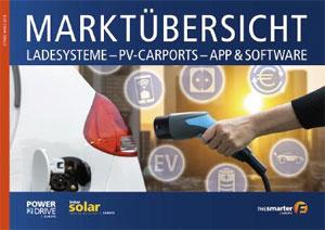 Die Marktübersicht für Eelektro-Ladesysteme präsentiert rund 40 verfügbare Ladesäulen, Wandladestationen (Wallboxen) und flexibel einsetzbare Ladekabel