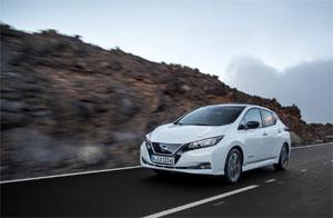 Die Studienteilnehmer wurden dem elektromagnetischen Feld von vier gebräuchlichen Elektroautos ausgesetzt. Bild: Nissan Leaf. Quelle: Nissan Europe.