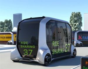 Das kastenförmige Elektro-Auto wartet mit einem offenen Innenraumkonzept auf
