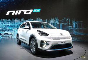 """Der Kia Niro EV kann laut Hersteller mit einer Batterieladung über 450 Kilometer weit fahren. Quelle: """"obs/Kia Motors Deutschland GmbH"""""""