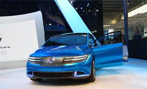 Die Elektro-Marke Denza von BYD und Daimler auf der Beijinger Automesse. Bild: http://german.china.org.cn