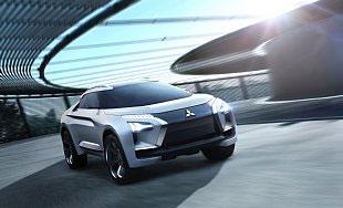Das MITSUBISHI e-EVOLUTION CONCEPT ist ein technischer Prototyp zur Veranschaulichung der strategischen Ausrichtung einer erneuerten Marke von Mitsubishi Motors