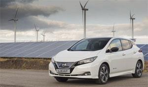 Elektro-Auto Nissan Leaf: Stromverbrauch (kWh/100 km): kombiniert 17,0; CO2-Emissionen kombiniert (g/km): 0. Werte vorbehaltlich der finalen Homologation.