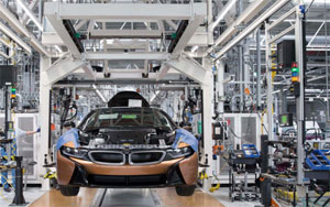 Produktion des BMW i8 in Leipzig. Bild: BMW Group