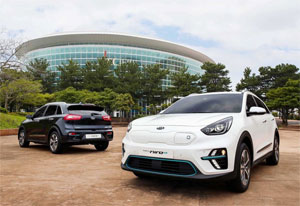 """Das Elektro-Auto """"Niro EV"""" wurde von den Kia-Designzentren in Kalifornien und Namyang (Korea) entworfen"""