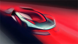 Begleitend zu den angestrebten Leistungszielen wurden erste Designskizzen des Elektro-Sportwagens PFo veröffentlicht