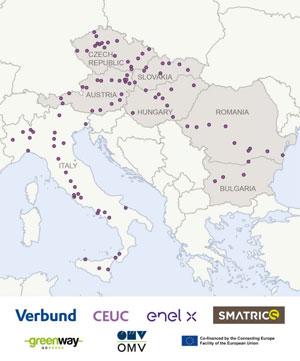 In den nächsten Jahren will das Konsortium 118 Ultra-Schnellladestationen in Österreich, Tschechien, Bulgarien, Italien, Ungarn, Slowakei und Rumänien errichten