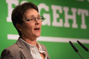 Monika_Heinold.jpg. Monika Heinold, Finanzministerin von Schleswig-Holstein, will bei 20 Prozent aller Neuanschaffungen für Fahrzeuge des öffentlichen Fuhrparks auf Elektro-Antriebe setzen