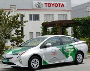 Der Prototyp auf Basis des Toyota Prius kombiniert den Hybrid-Antrieb mit alternativen Kraftstoffen