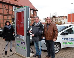 Elektro-Ladesäule in Barleben, Sachsen-Anhalt. Bild: Gemeinde Barleben