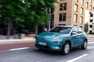 Der Reichweitentest wurde mit dem Hyundai Kona Elektro in der höchsten Ausstattungslinie absolviert.
