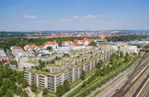 Im Stadtquartier Dörnberg in Regensburg sind aktuell mindestens 220 Elektro-Ladepunkte projektiert